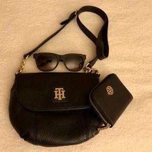 Authentic Tommy Hilfiger Black Crossbody Bag